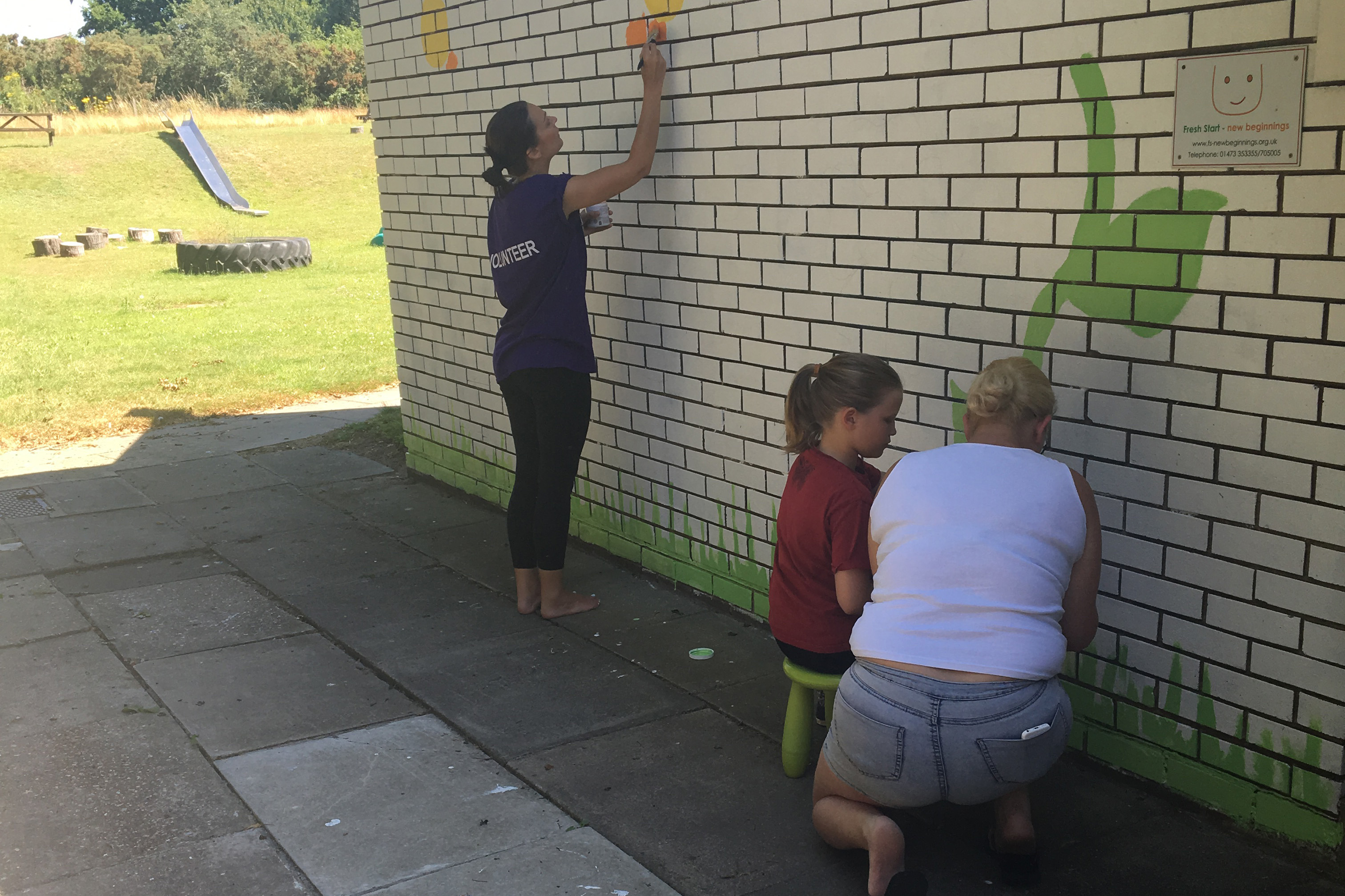 Finishing Touches at Fresh Starts News Beginnings