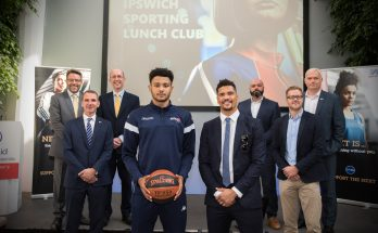 Anthony Ogogo and sponsors at Ipswich Sporting Lunch CLub